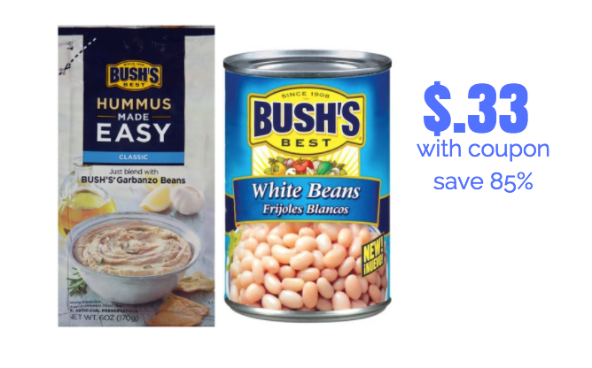 Bush S Hummus Mix And Beans Just 33 Each With Sale And