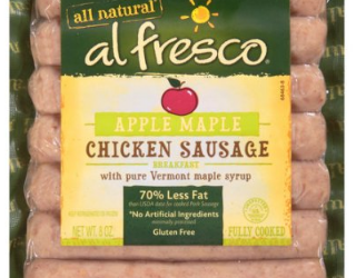 All Natural al fresco Breakfast Sausage For $1.99 After Coupon