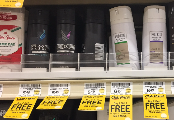 Free printable coupons for axe body spray