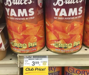 Bruce's Yams Sale – As Low as $1.00