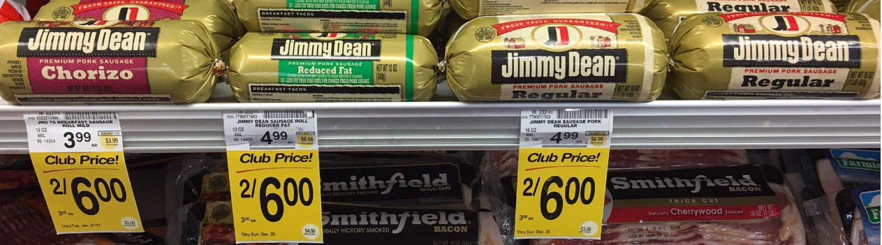 Jimmy Dean Coupon and Sale - Pay $2.00 for Sausage Rolls