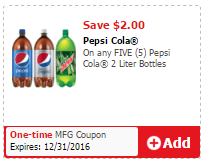 Save 72% on Pepsi 2 Liters - Pay as Low as $0.55