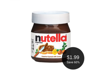 Nutella Coupon = $1.99 at Safeway, Save 60%