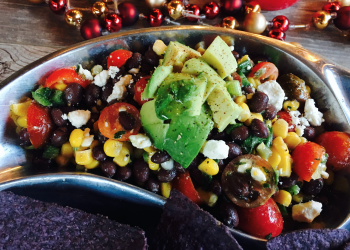 Holiday Entertaining With Easy Black Bean & Corn Salsa Recipe