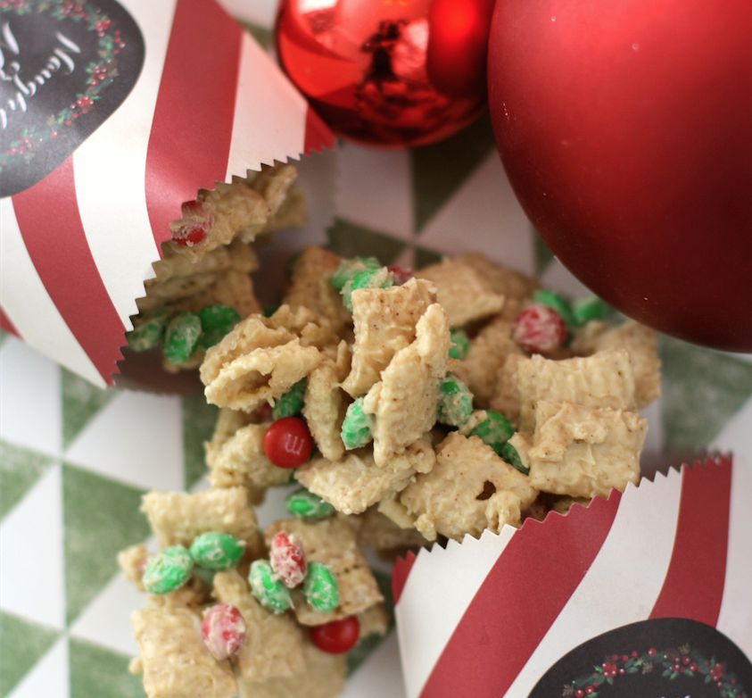 white chocolate gingerbread chex mix