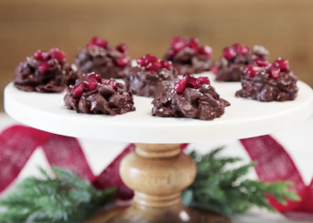 Easy Holiday Dessert Chocolate Pomegranate Drops