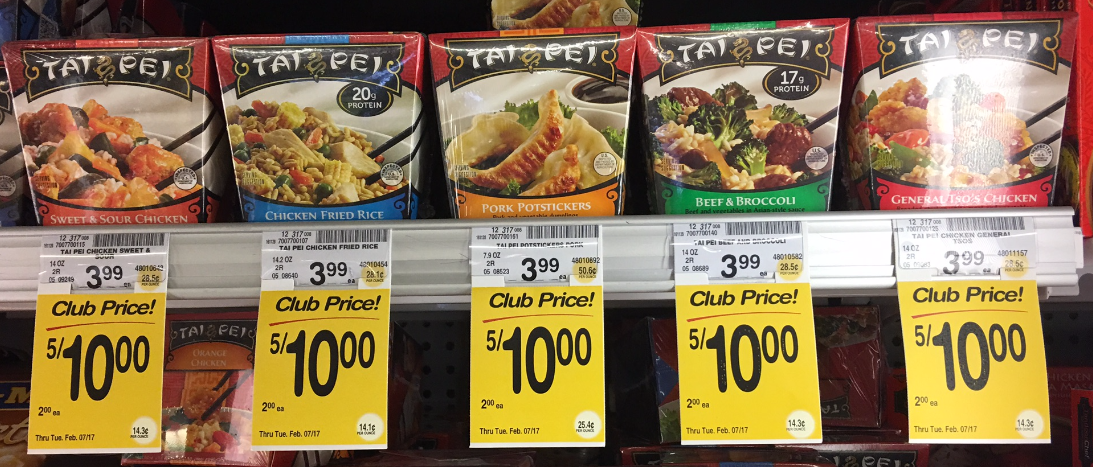Tai Pei Entrees - Just a Buck, Save 75%