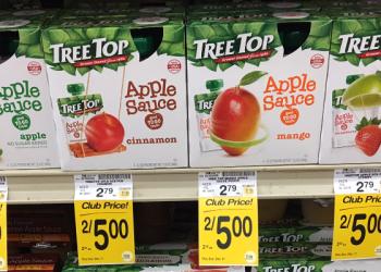 Tree Top Applesauce for $1.75 - $5.29