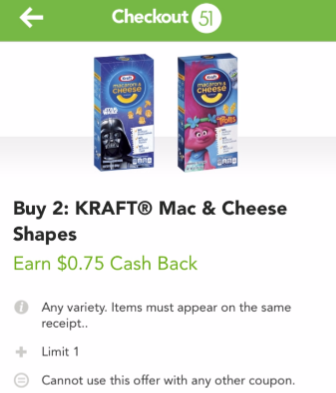 Kraft Mac and Cheese Deals - Pay as Low as $0.38