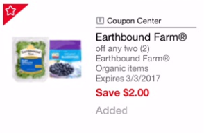 Earthbound Farm Coupon – Pay as Low as $1.25 for Organic Salad