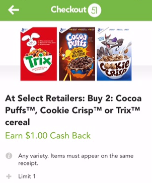General Mills Cereal Coupon and Sale - Pay as Low as $0.99