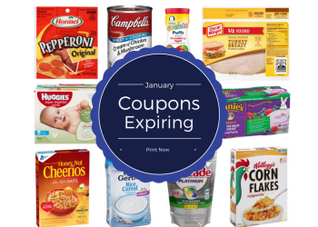 Last Day For January Print Coupons - 44 Coupons Expire After Today