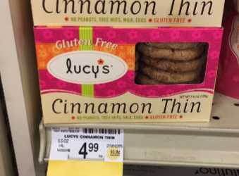 Lucy's Gluten Free Cinnamon Thins, Save 50% – Pay $2.49