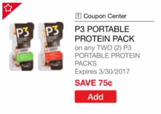$0.50 for Oscar Mayer P3 Protein Snacks, Save 75%