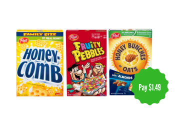 Post Cereal Sale and Coupon, Pay $1.49 - Save Up to 63%