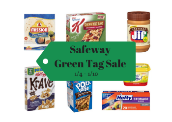 Green Tag Sale at Safeway 1/4 - 1/10