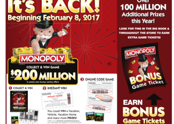 Monopoly at Safeway and Albertsons is Back – Over $200 Million in Prizes and Money Savings Offers
