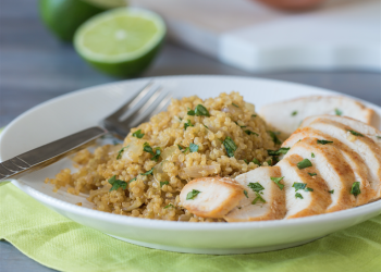 Savory Chicken with Lime Quinoa