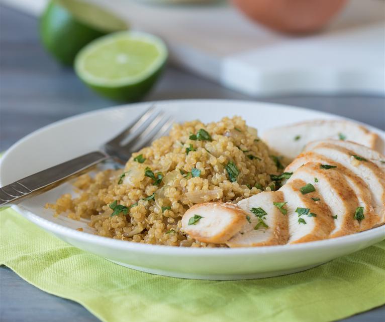 Savory Chicken with Lime Quinoa - Super Safeway