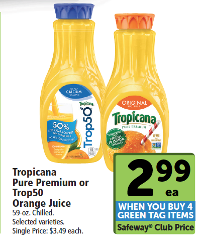 New Tropicana Coupon – Pay just $1.99 for Trop50 Orange Juice