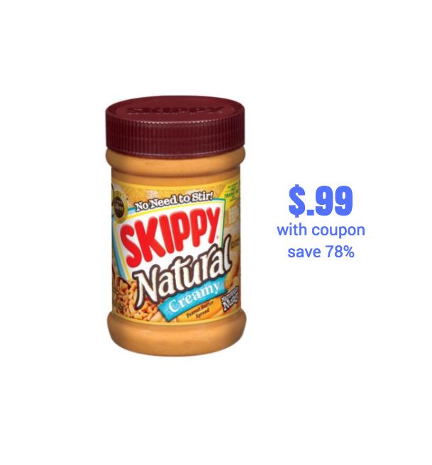 skippy peanut butter on sale