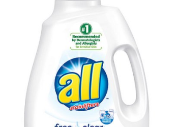 all Laundry Detergent 100 oz $3.89 each with Sale and Coupon – Just $.06 per load