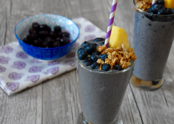 Blueberry Pie Protein Smoothie – Dairy Free, Plant Based Protein Drink