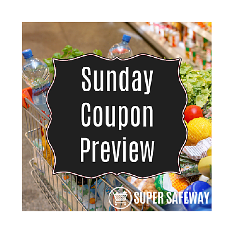 Sunday Coupon Insert Preview 1/29 - FOUR Inserts