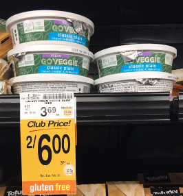 Go Veggie Sale - FREE Cream Cheese Alternative or $0.49 Shreds or Slices