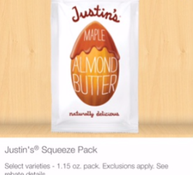 Justin's Almond Butter Deal – Pay as Low as $0.50