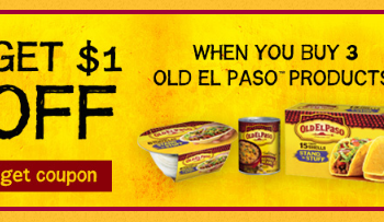 HIGH VALUE Old El Paso Coupon - Pay as Low as $0.79