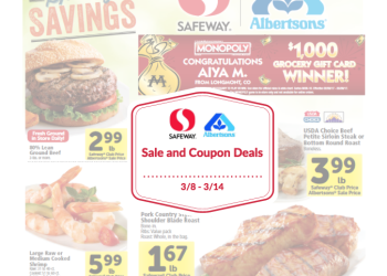 Albertsons and Safeway Sale and Coupon Deals for 3/8 – 3/14