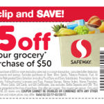 NEW $5.00 Off $50.00 Safeway Coupon