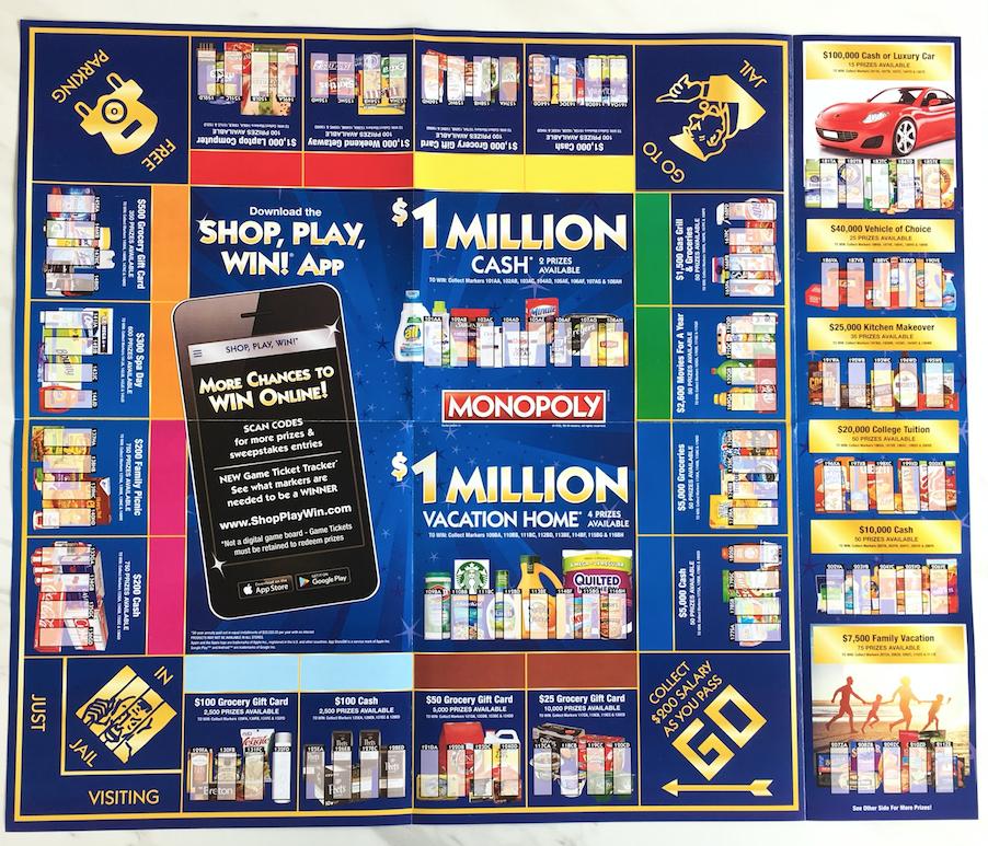 Safeway Monopoly Game Shop Play Win