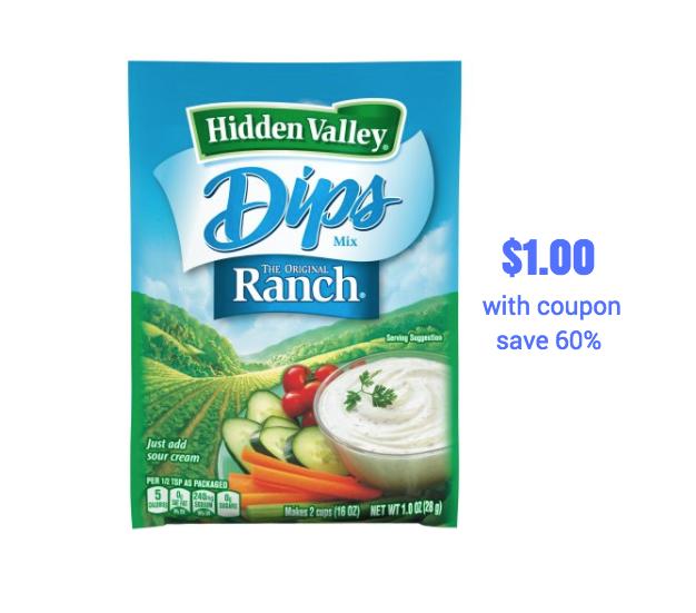 Hidden valley coupons