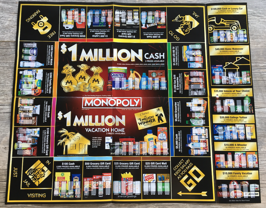 photo relating to Albertsons Monopoly Game Board Printable known as Albertson monopoly activity board 2019 : 5 % hard cash back again