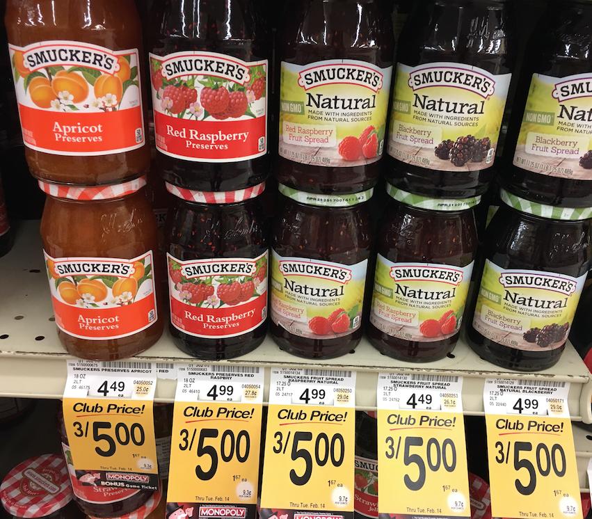 Smucker's Natural Jam Sale
