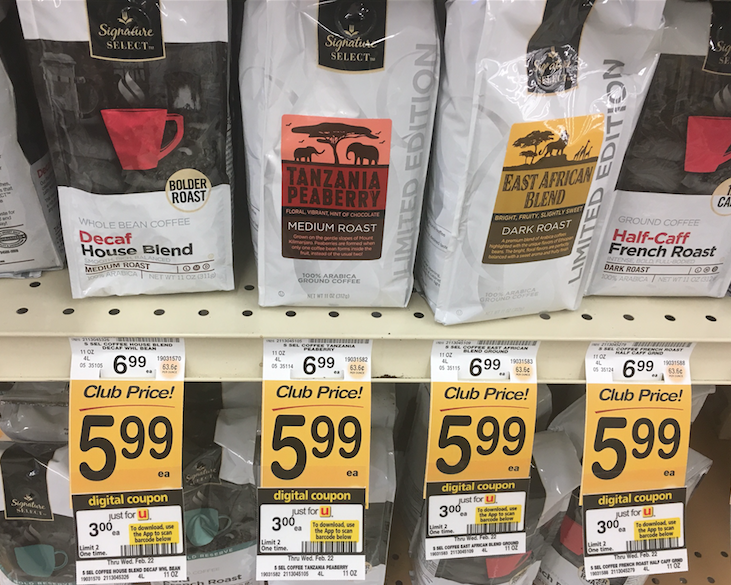 Hot 2 Bags Of Signature Select Coffee And K Cups Just 3