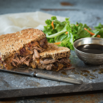 Toasted Chipotle Roast Beef Sandwich with Au Jus