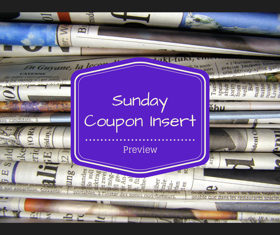 Sunday Coupon Insert Preview 2/26 - 3 Inserts