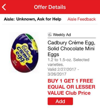 Cadbury Coupon