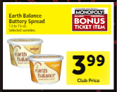NEW Earth Balance Coupon, Pay as Low as $1.74 for Buttery Spread