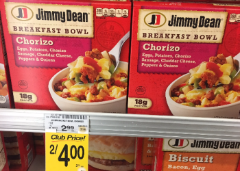 Pay $1.00 for Jimmy Dean Breakfast Bowls