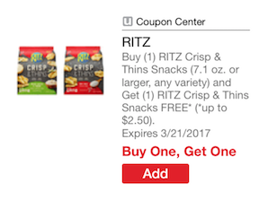 ritz Crisp & Thins Coupon