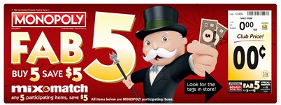 Fab 5 Mix & Match Event - Buy 5, Save $5.00 at Safeway