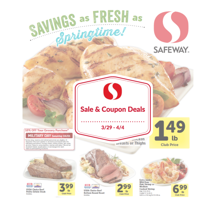 Safeway Sale and Coupon Deals