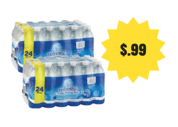 refreshe 24 Pack Water Bottles Just $.99 with Coupon – Pay just $.04 per bottle