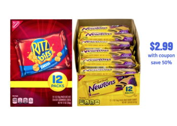 Nabisco Snack MultiPacks Just $2.99 With Sale and Coupon, Save 50%