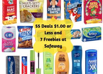Saving at Safeway – 55 Deals Under $1.00 Plus 7 Freebies