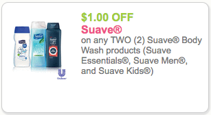Suave Body Wash Coupon